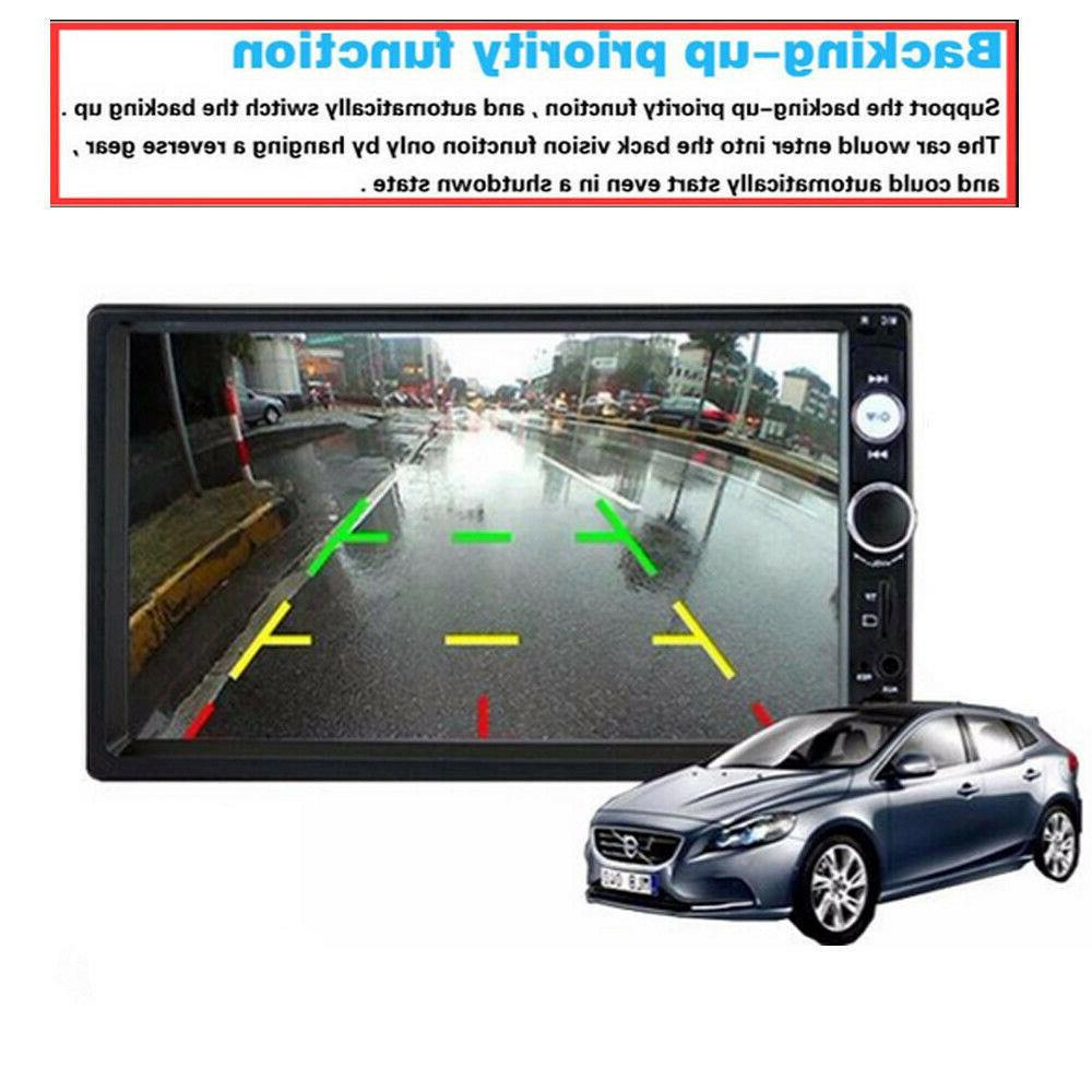 """7"""" Double Mirror Link Car Touch Screen Stereo Radio"""