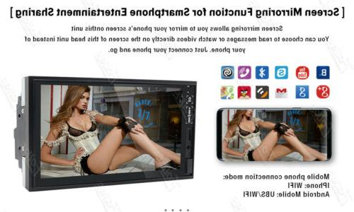 Android 10.0 7 Inch Double 2 Car Radio with Rear Camera