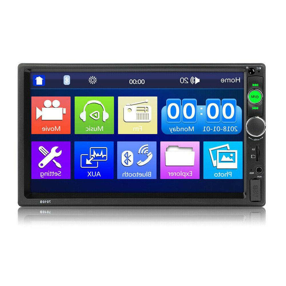 """7"""" Double 2DIN MP5 Player Bluetooth TF Touch Radio FM Dash"""