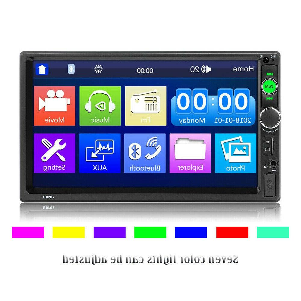 """7"""" Double 2DIN MP5 Player TF Touch FM"""