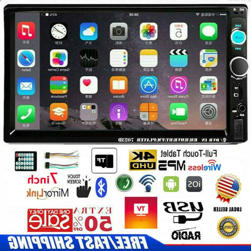 """7""""inch Double 2 DIN Car MP5 Player Bluetooth Touch Screen St"""