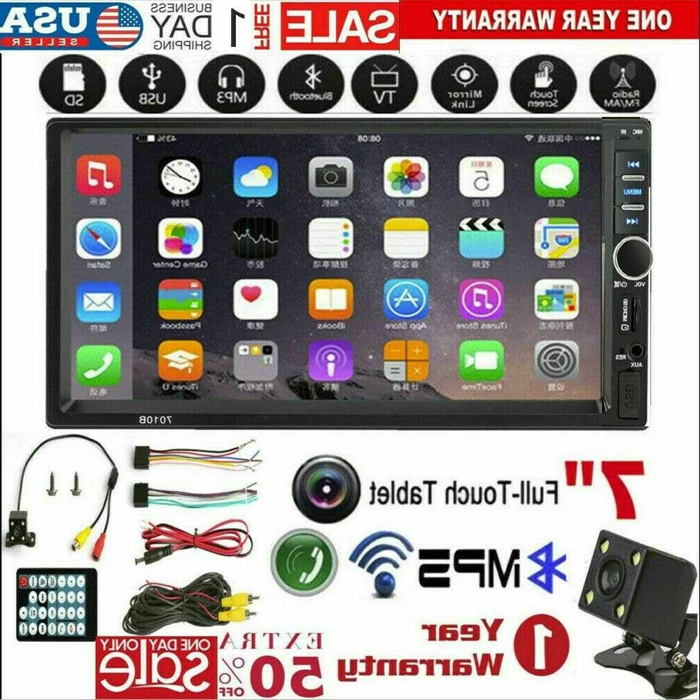 """7"""" inch DIN MP5 Bluetooth Touch Stereo Radio"""