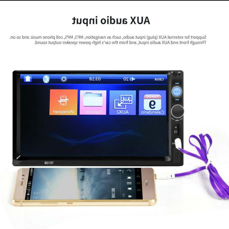 """7.0"""" Double Screen Car Stereo Player Bluetooth"""