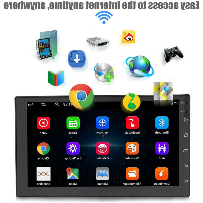 7inch Android 9.1 Car Stereo GPS Navigation Radio Player Dou