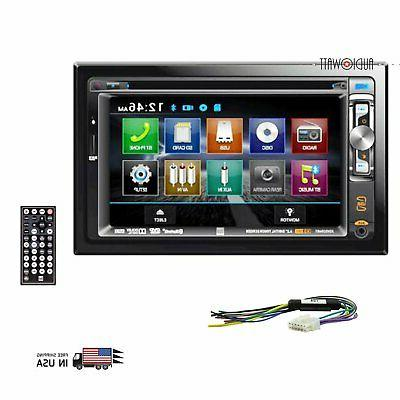 """DUAL XDVD256BT Dual 6.2"""" Double-DIN In-Dash DVD Receiver wit"""