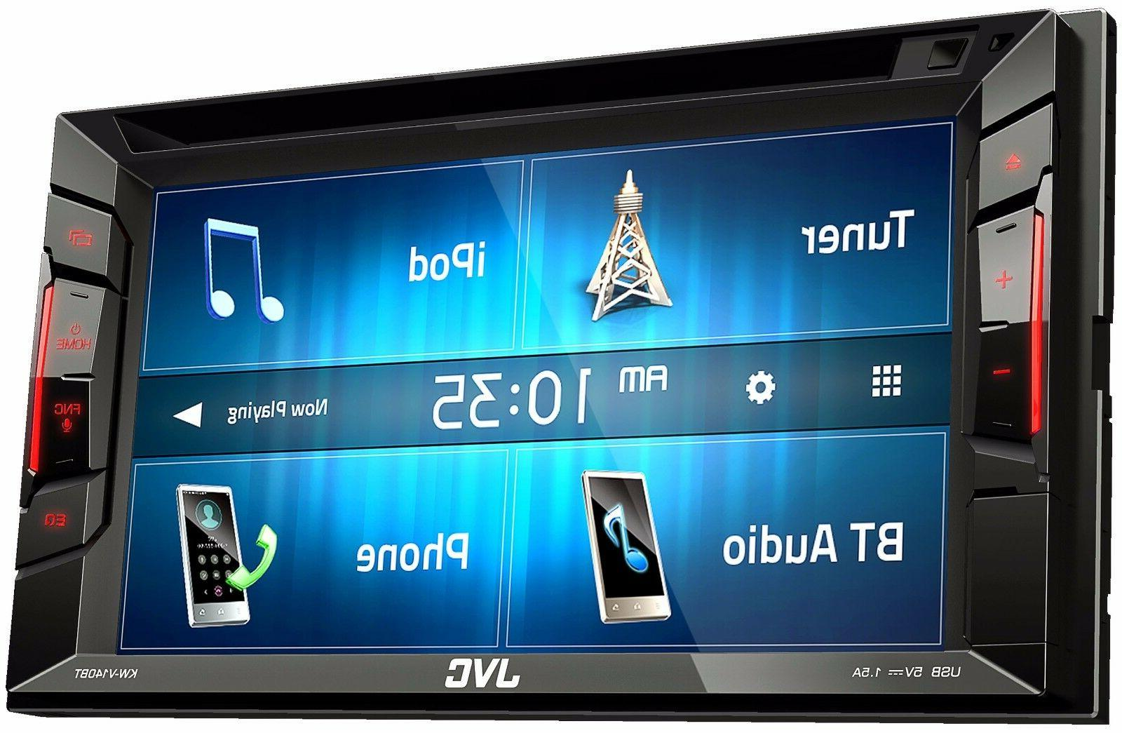 """JVC Din Bluetooth Car Stereo 6.2"""" Touchscreen W/ Rearview"""