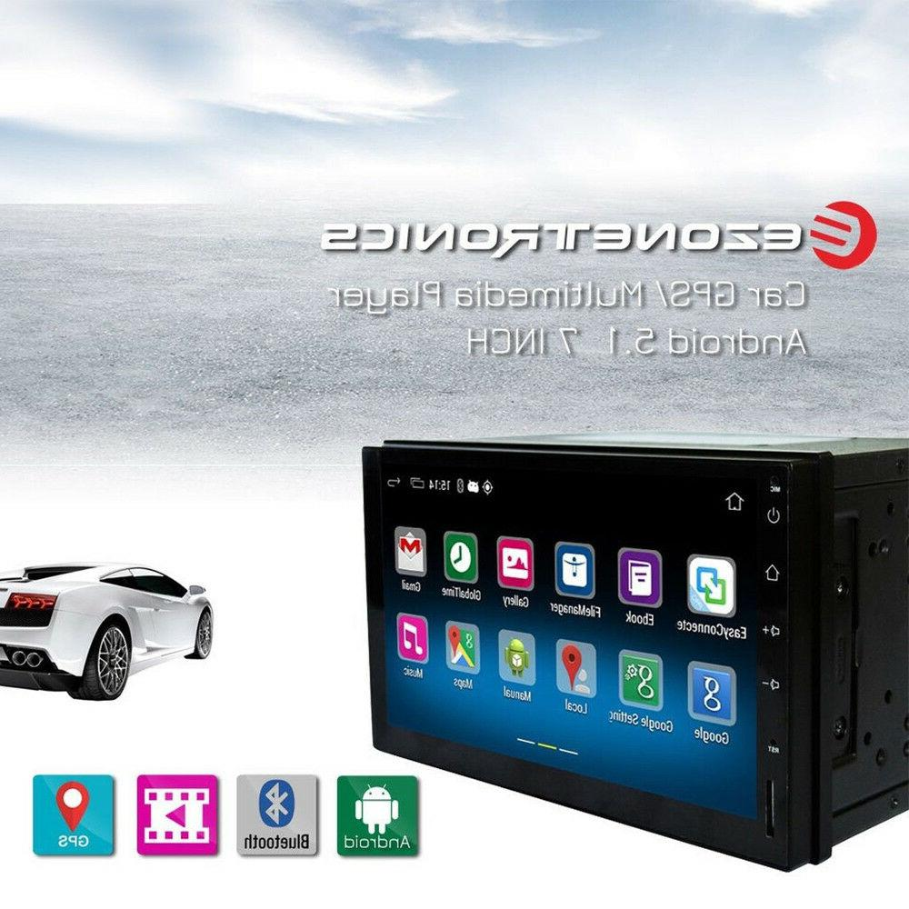 Ezonetronics Double Din Car Stereo with Navigation FM/AM Screen Radio with Bluetooth GPS Navigation SD Link Player DDR3 + Flash