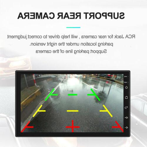 Android 8.1 Double Din HD Quad GPS WiFi Car Stereo MP5 US
