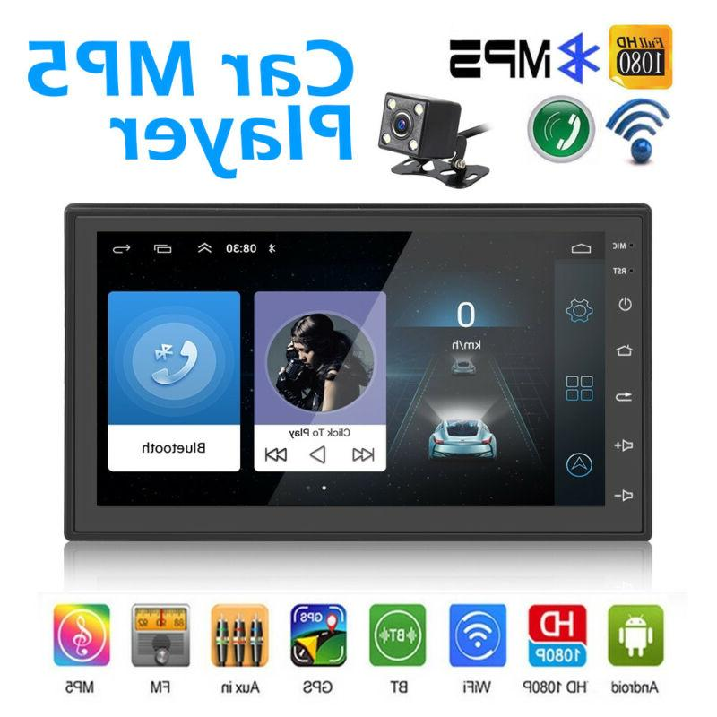 Android 8.1 Double 2Din 7in HD Quad Core GPS WiFi Car Stereo