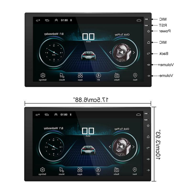 Android 8.1 Double 7in GPS MP5 Player