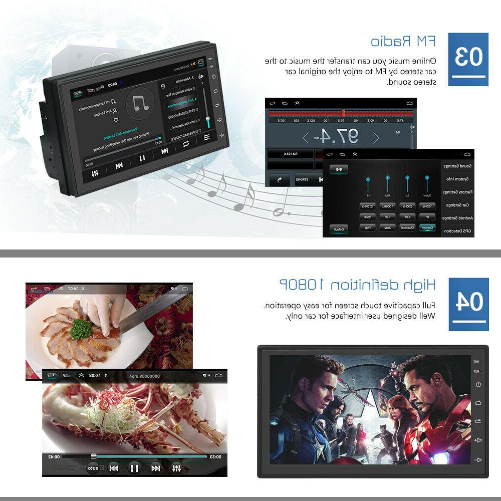 Android 9.1 Double Car Stereo Navigation WIFI Inch