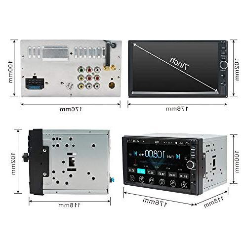 Ezonetronics Radio Stereo Double Din inch Capacitive High Definition 1G + NAND Memory Flash(No