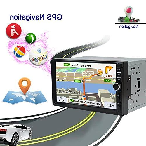Stereo Double inch High Definition GPS Navigation Player 1G NAND Memory Flash(No