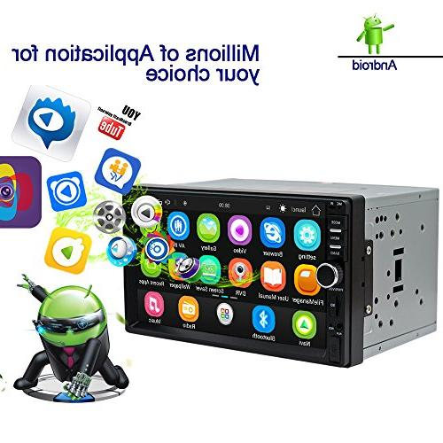 android car radio stereo double