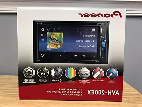 Pioneer 2-Din DVD/CD/iPhone/Android/Bluetooth + Car Radio Stereo Dash Kit Wire 2003-2007 Honda Accord
