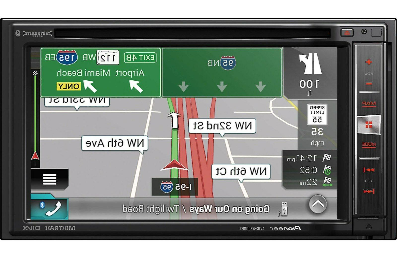 Pioneer GPS 6.2 Touchscreen Video Player, CD/DVD Player Voice Speed Assist, Turn-by-turn - Bluetooth - Preloaded Maps - WVGA