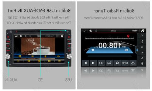 Backup Camera+GPS Double Din Car mp3 Player Bluetooth