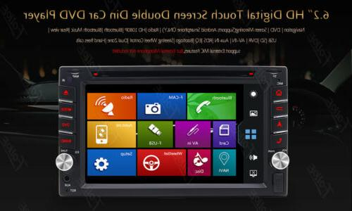 Backup Camera+GPS Car Stereo Radio DVD mp3 Player Bluetooth with Map