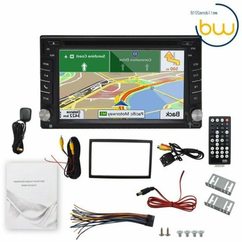 Backup Camera+GPS Din Car Stereo mp3 Bluetooth with Map