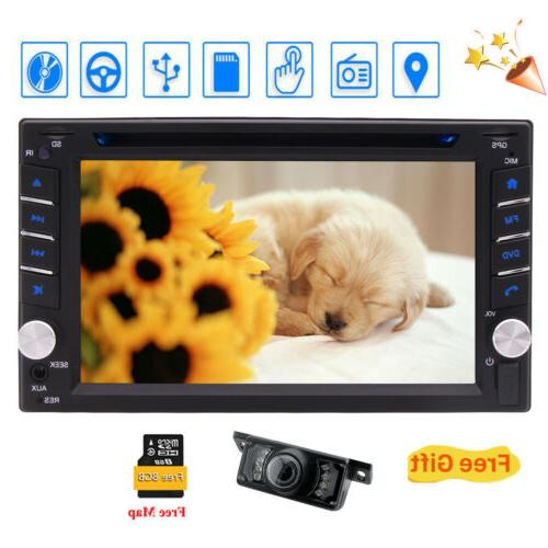 Backup Camera&Double 2*Din Stereo CD DVD Player Cam US