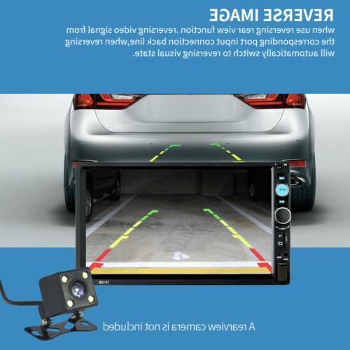 """Car Player 7"""" Double 2DIN Screen AUX Camera"""
