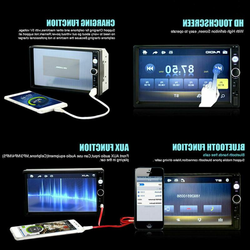 Car Stereo Radio Bluetooth Double 2 IOS/Android