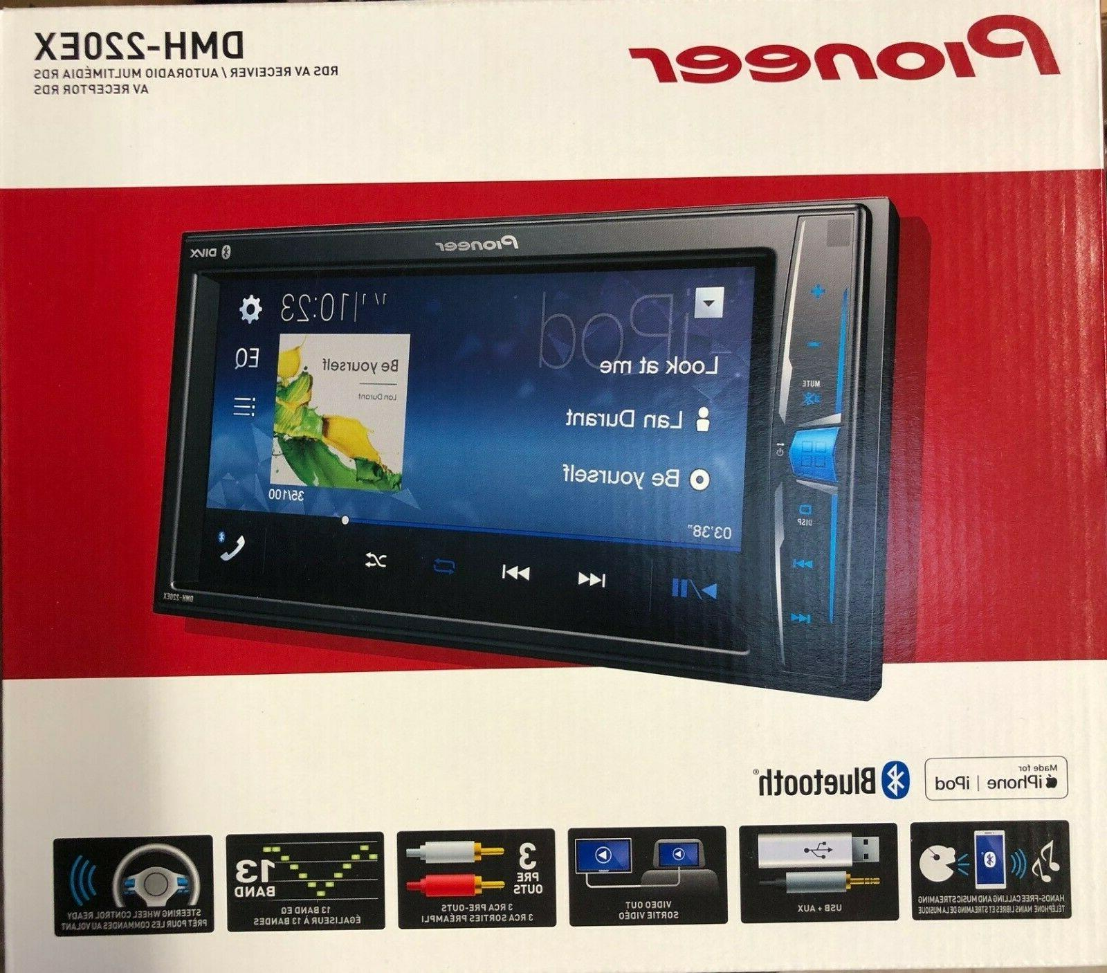 Pioneer Double 2 DIN Media Player Bluetooth