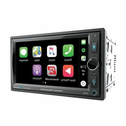 Power 2 Din Media Apple CarPlay USB AUX