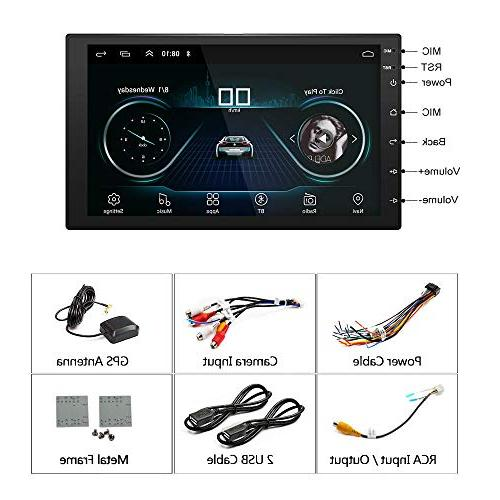 Ezonetronics Double Car Stereo with Bluetooth Screen mirror