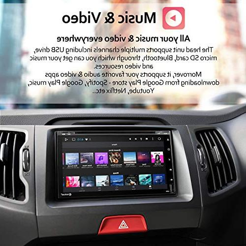 Double Stereo CD DVD 6.95 Screen Radio Bluetooth Navigation System