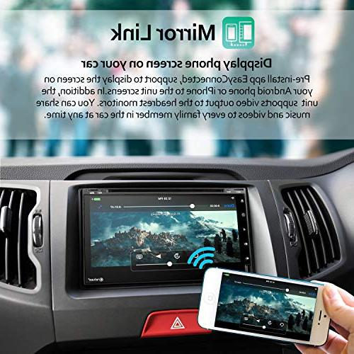 Double Din Android Car Stereo DVD Player 6.95 inch Screen in Radio with Bluetooth System