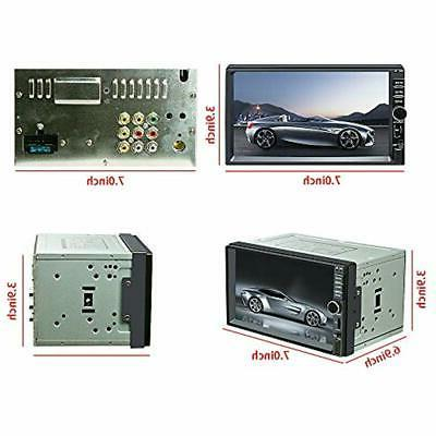 Double InDash DVD & Video Receivers Din Stereo,Ezonetronics Touch
