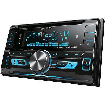 KENWOOD DPX530BT DOUBLE DIN CAR USB CD RECEIVER STEREO BLUET
