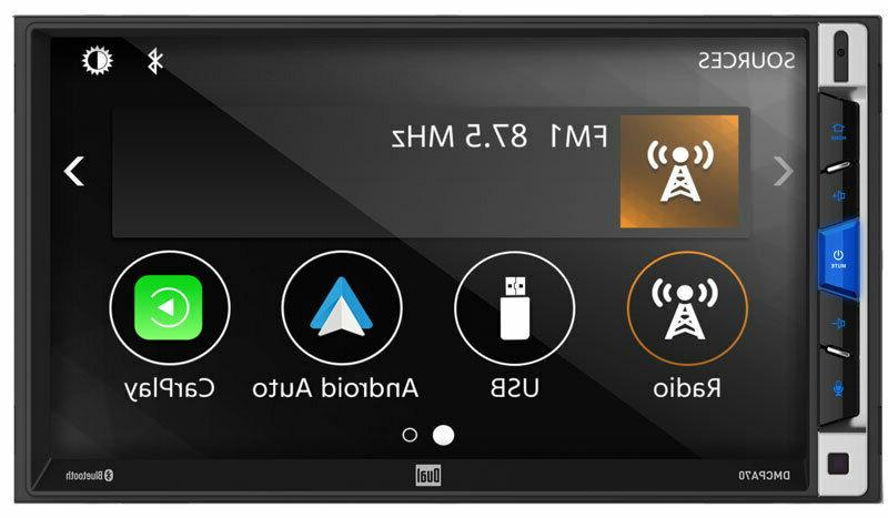 "Dual 7"" 2-DIN Touchscreen Bluetooth Car Stereo Multimedia"