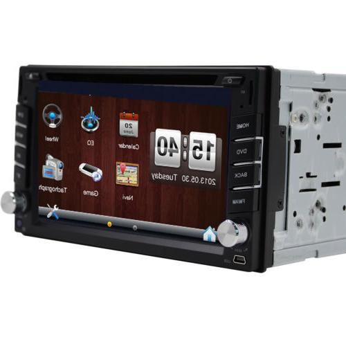 GPS Double Car Stereo DVD Player Android+Cam
