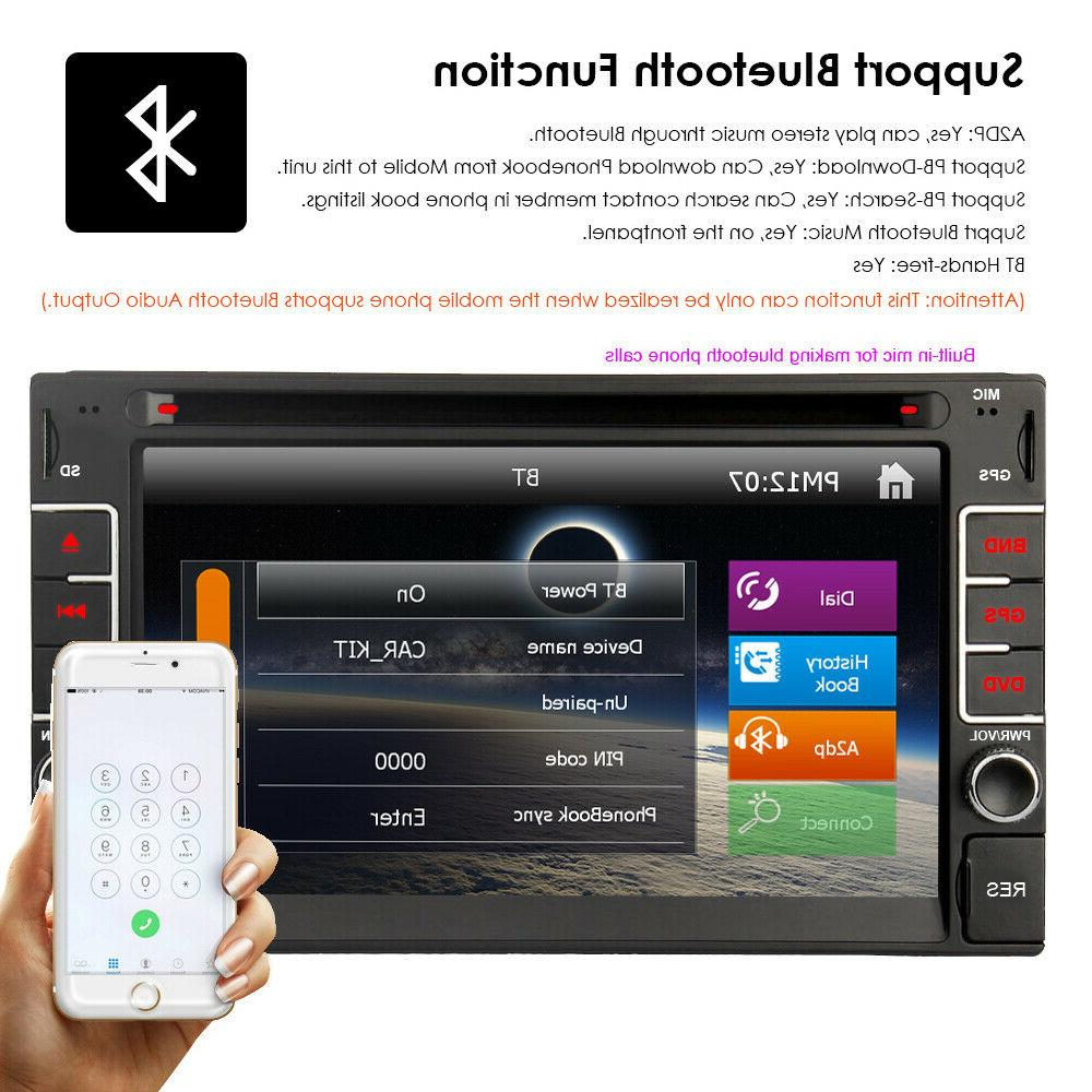 """GPS Navigation With Map Bluetooth Double 6.2"""" Stereo Player"""