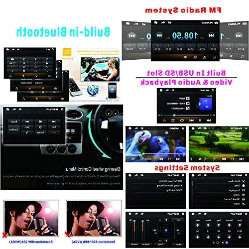 Ezonetronics Double DIN Car Player Car with Bluetooth USB SD MP4 Radio Universal CW9301