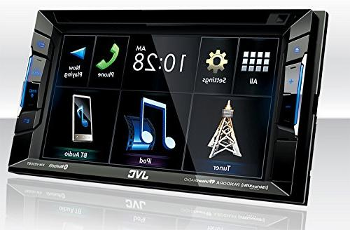 JVC KW-V230BT BT/DVD/CD/USB Receiver with 6.2 with Sirius XM Up Camera Steering Controls