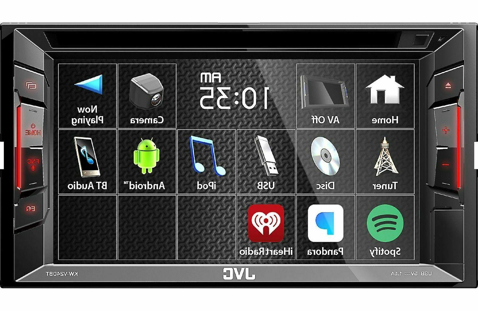 kw v250bt 6 2 double din bluetooth