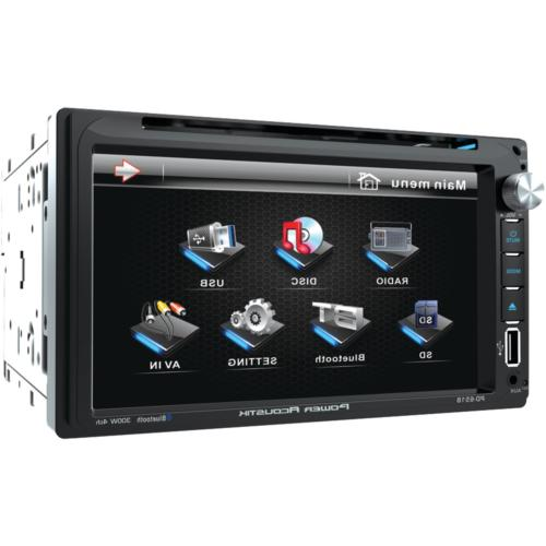 """Power Acoustik PD 651B 6.5"""" Double-DIN in-Dash LCD Touchscre"""