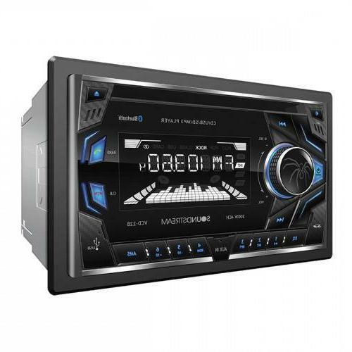 Soundstream VCD-22B Double DIN CD/MP3/AM/FM Receiver with 32
