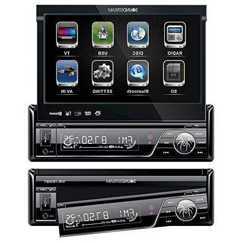DVD/CD/MP3 Player Flip-Out Screen Bluetooth TS-165P Pairs 230W Car Audio 4 Speakers