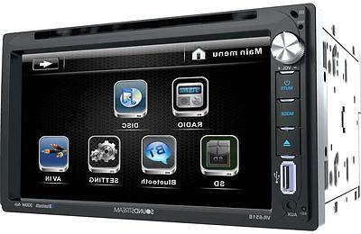 Soundstream DVD LED-LCD Double - DVD-RW, CD-RW Video, DivX, - MP3 - FM - Bluetooth USB - Auxiliary Input -