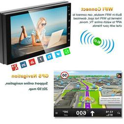 "WiFi GPS Android 8.1 Double 2 Din 7"" Car HD MP5 Player Stere"