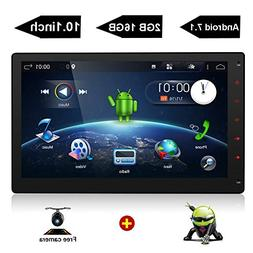 "10.1"" HD Big Screen Double Din Android 7.1 Quad Core CPU Car"