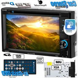 "NEW Planet Audio 6.2"" Screen Double-DIN In-Dash DVD Car Ster"