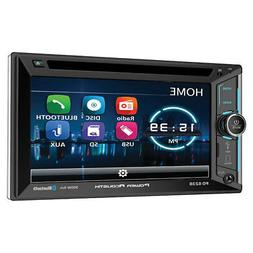 "Power Acoustik PD-623B Double 2 DIN CD/DVD Player 6.2"" LCD B"