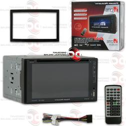"POWER ACOUSTIK PD-627B CAR 2DIN 6.2"" TOUCHSCREEN DVD CD USB"
