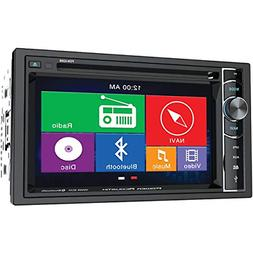 Power Acoustik PDN 626B Double Din AM/FM/DVD/BT 6.2-Inch wit