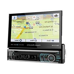 "Power Acoustik PDN-721HB 1 DIN CD/DVD Player 7"" Flip Up GPS"